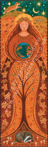Earth-Goddess Stoff-Wandbehang